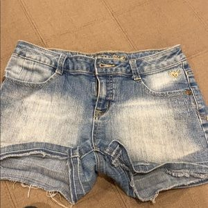 Justice jean shorts Girls size 14R